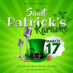 Saint Patrick's day Karaoke Party Invitation