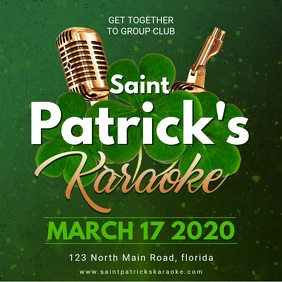 Saint Patrick's day Karaoke Party Invite