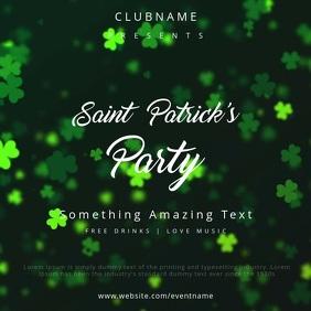 Saint Patrick's Party Square (1:1) template