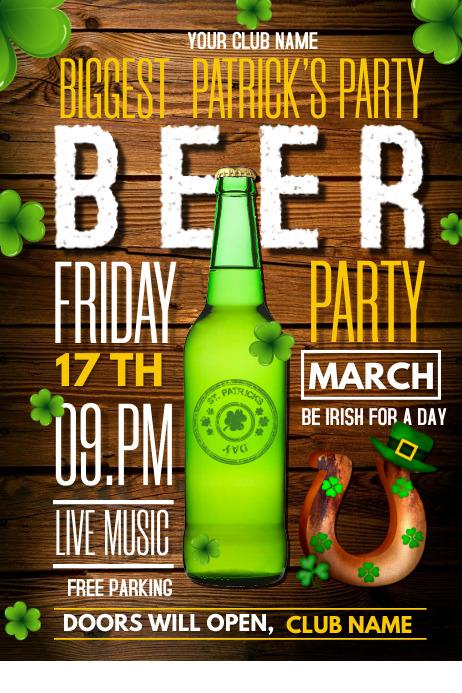 Saint patrick's posters,Beer poster
