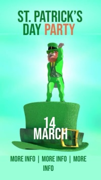 Saint Patrick's Day Party Facebook Instagram Story template
