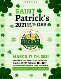Saint Patrick day Pamflet (Letter AS) template