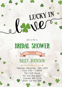 Saint Patrick lucky in love invitation
