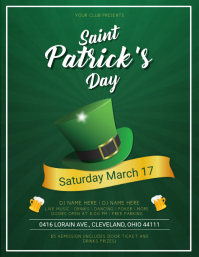 Saint Patrick's Day Dark Green Flyer