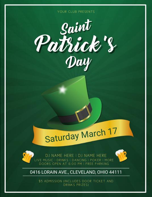 Saint Patrick's Day Dark Green Flyer