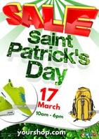 Saint Patrick's Day Sale Poster