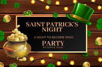 saint patricks,17th March Banner 4' × 6' template