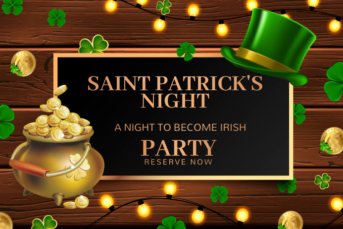 saint patricks,17th March Cartel de 4 × 6 pulg. template