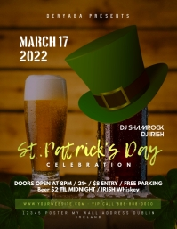Saint Patricks Day Celebration Flyer March 17 Template