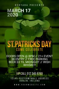 Saint Patricks Day Celebration Poster Beer