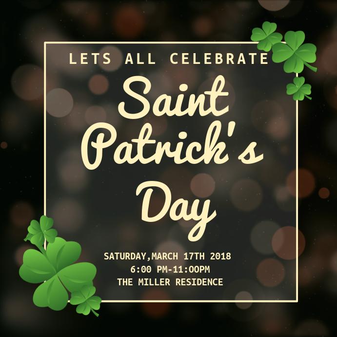 Saint Patricks Day Celebration Template