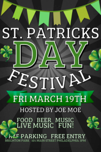 St Patricks Day Poster Templates PosterMyWall - Fun day flyer template free