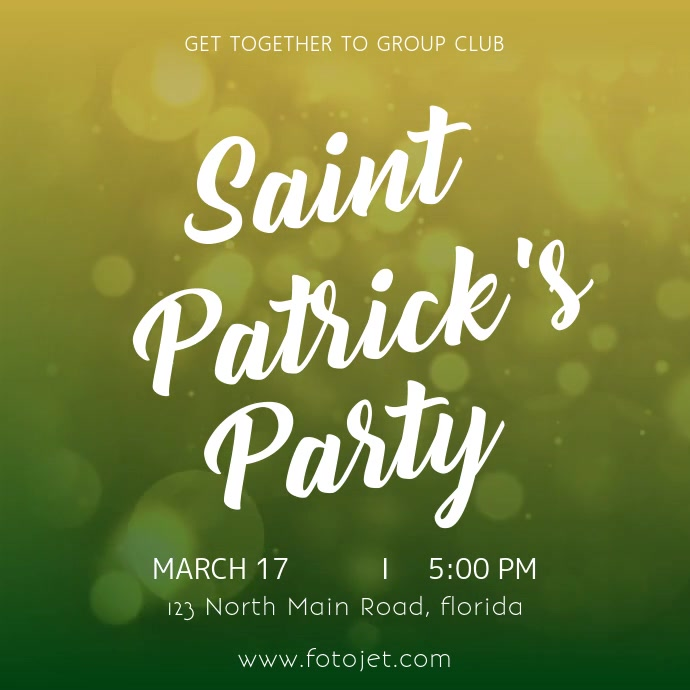 Saint patricks party celebration Template
