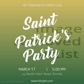 Saint Patricks Party Instagram Template