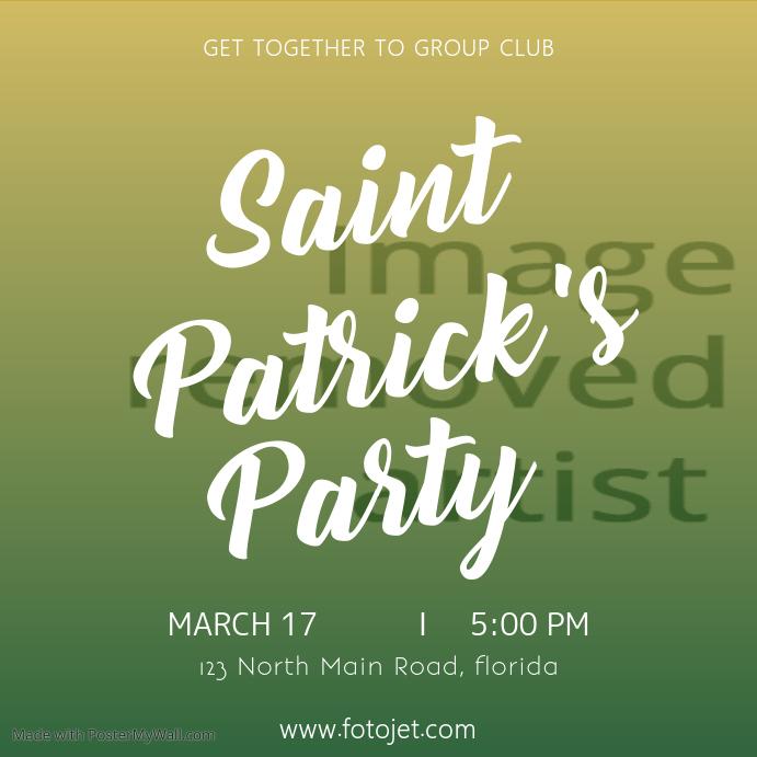 Saint Patricks Party Instagram Template
