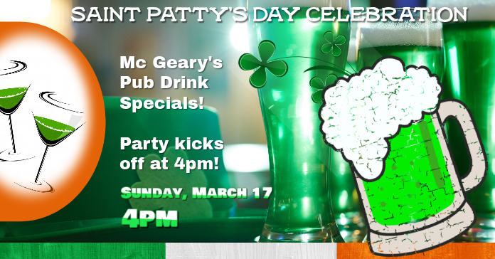 Saint Patty's Facebook Event