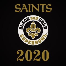 SAINTS BLACK AND GOLD SUPERBOWL 2020 LIV