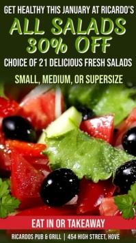 Salad Bar Digital Signage Promo Template