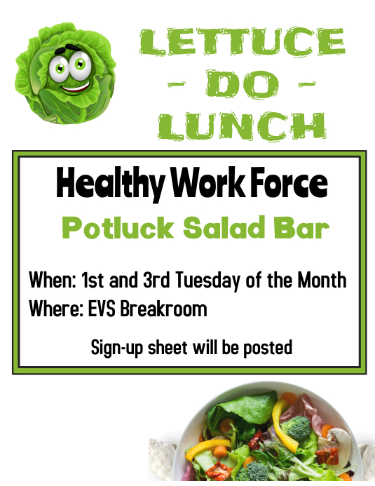Salad Bar Potluck Template