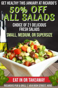 Salad Bar Promo Poster Template