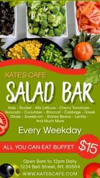Salad Bar Restaurant Digital Template