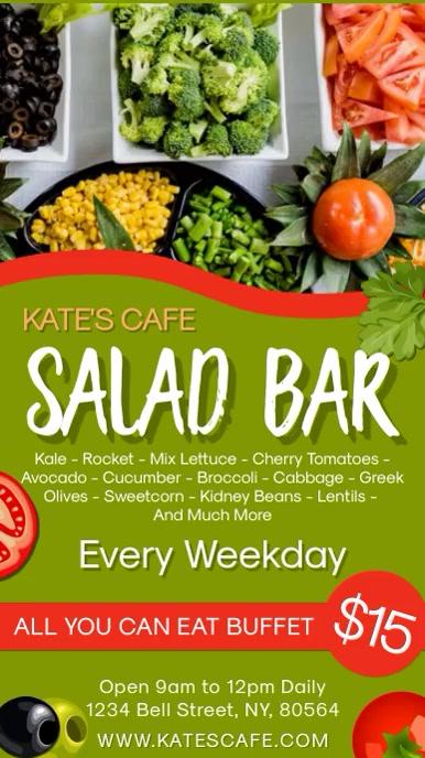 Salad Bar Restaurant Digital Template