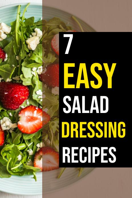SALAD DRESSING RECIPE Графика Pinterest template