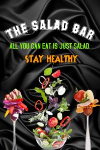salad food restaurant poster flyer