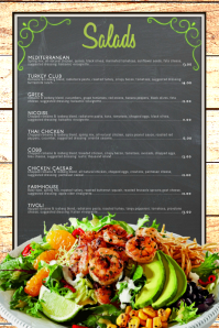 Salad Menu Template