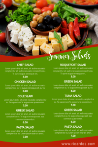 Salad Menu Poster Template Bar Potluck