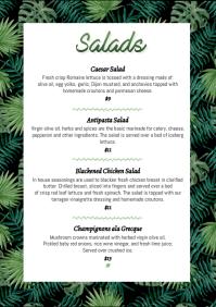 Salads floral menu