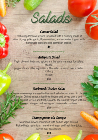 Salads simple vegetables floral menu