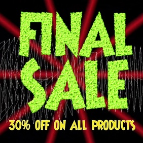 Sale, Final, Discount Shop Sale on Products or items