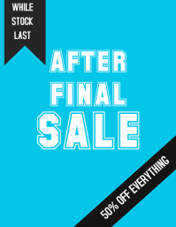 Sale, Final reduction sale poster