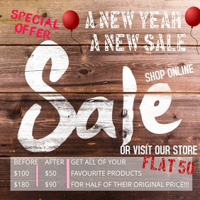 SALE, NEW YEAR TIME