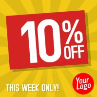 Sale 10 to 50% off animation instagram video
