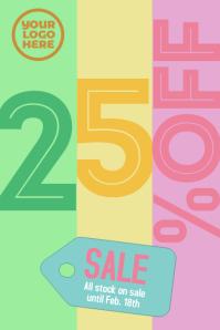 Sale 25% retail poster template Cartaz