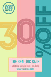 Sale 30% event flyer