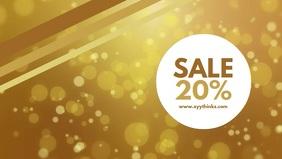 Sale Ad video Gold Shine Shop Elegant Glitter Gift retail