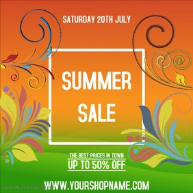 Sale Advert Online shopping Discount summer Template