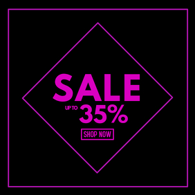 Sale advert pink advert promo beauty store retail shop