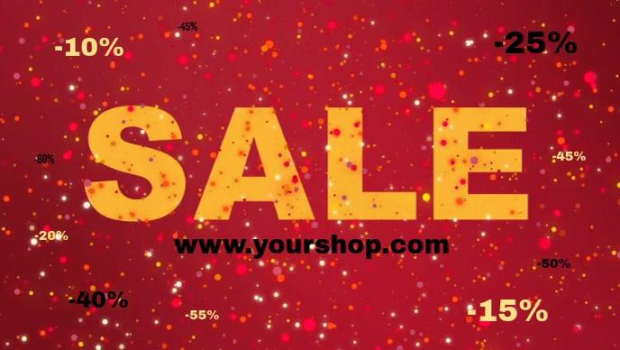 Sale Advert Video Shine Glitter Red Discount Shop Sparkle