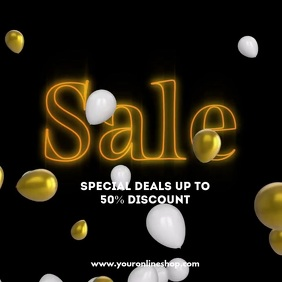 Sale Balloons Light Video Template Shopping