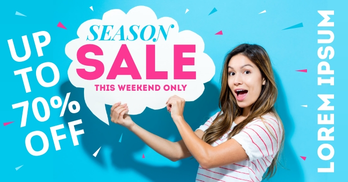 SALE BANNER Facebook Shared Image template