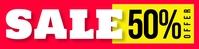 sale banner Bannière 2' × 8' template