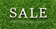 Sale Banner Header Lawn Green Gras Spring Immagine condivisa di Facebook template