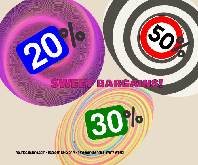 Sale/bargain/store sale/venta Grote rechthoek template