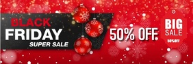 Sale Black Friday discount flyer Баннер 2 фута × 6 футов template