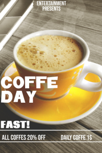 Sale coffe day flyer template