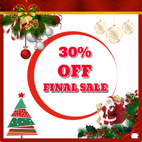 Sale Discount christmas template